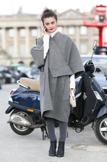 great greys. #NataliaAlaverdian in Paris.