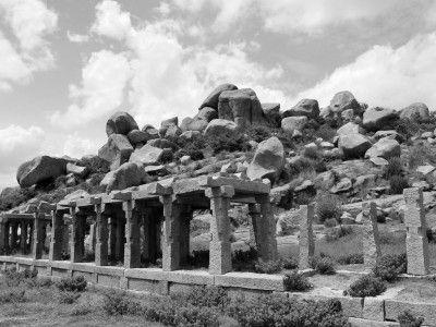 The courtesan's square, Hampi, Karnataka, India #India #travel #Kamalan #culture #Photo