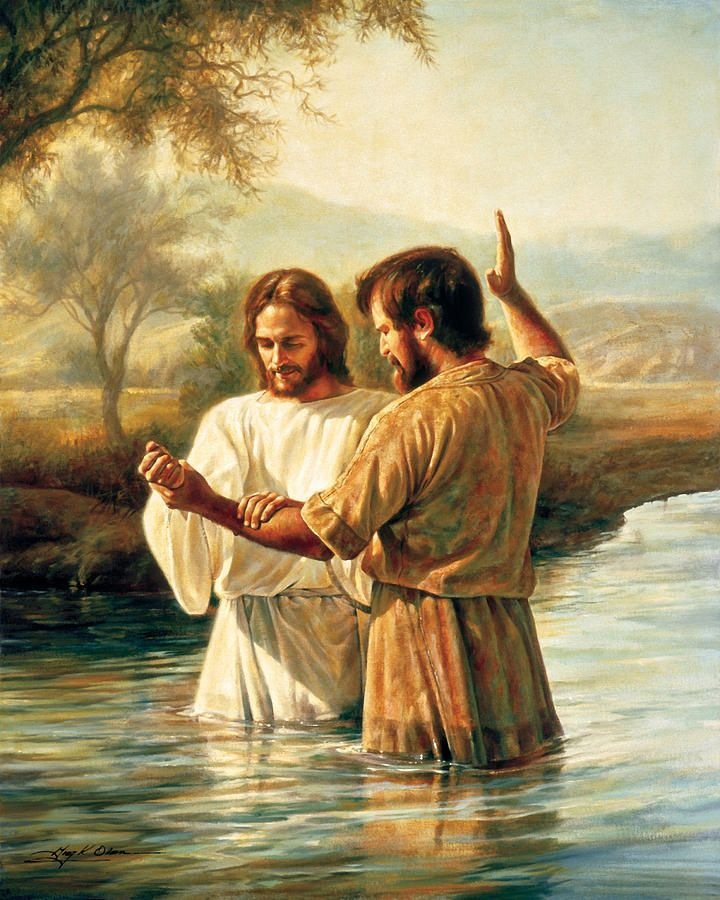 Baptism of Christ by Greg Olsen ~ Jesus & St. John the Baptist