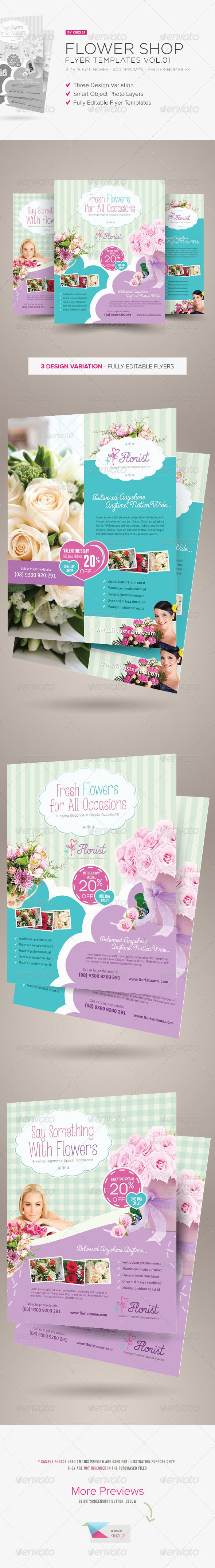 Flower Shop Flyer Templates are fully-editable design  templates created for sale on Graphic River. More info of the templates and how to get the sourcefiles can be found on this page:  http://graphicriver.net/item/flower-shop-flyer-templates/6566352?r=kinzi21