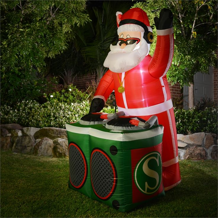 Lytworx 180cm Inflatable Santa With DJ Twin Deck