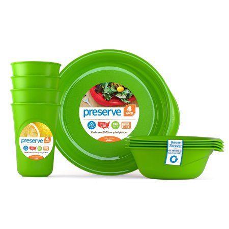 Everyday Tableware Set, Apple Green, 3 Ct