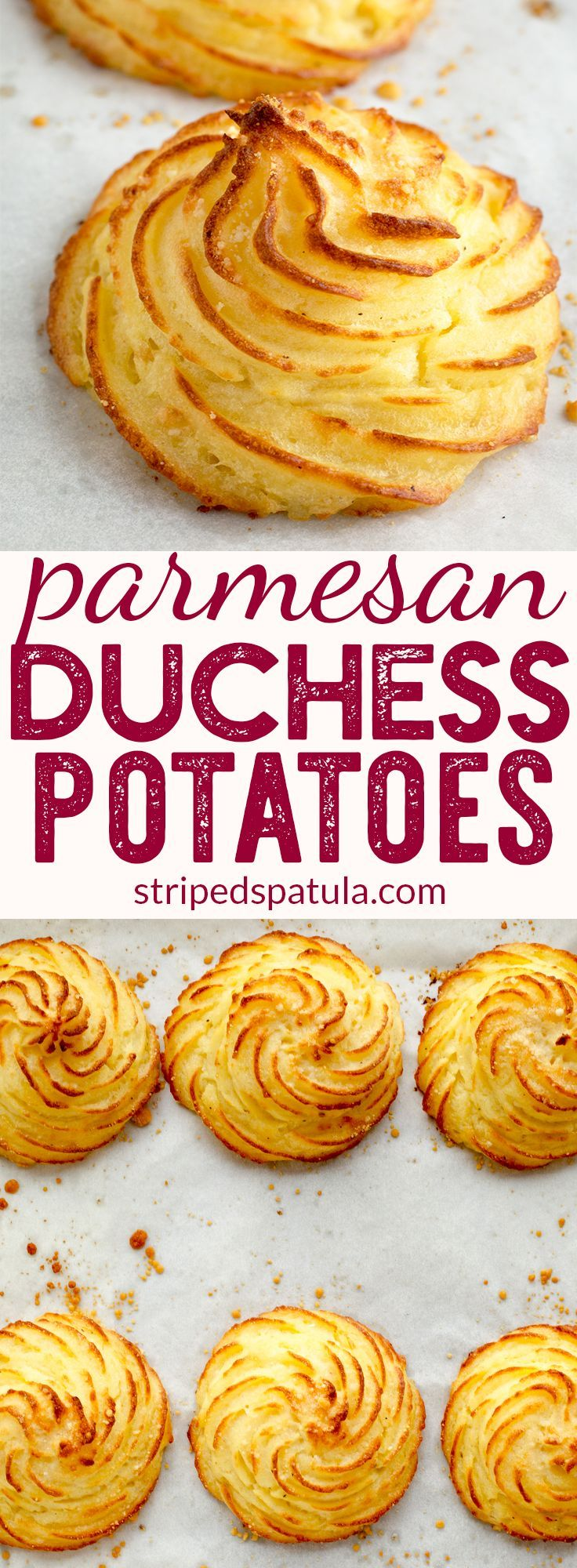 Parmesan Duchess Potatoes Recipe | Potato Side Dishes | Holiday Dinner Recipes | #potato #parmesan