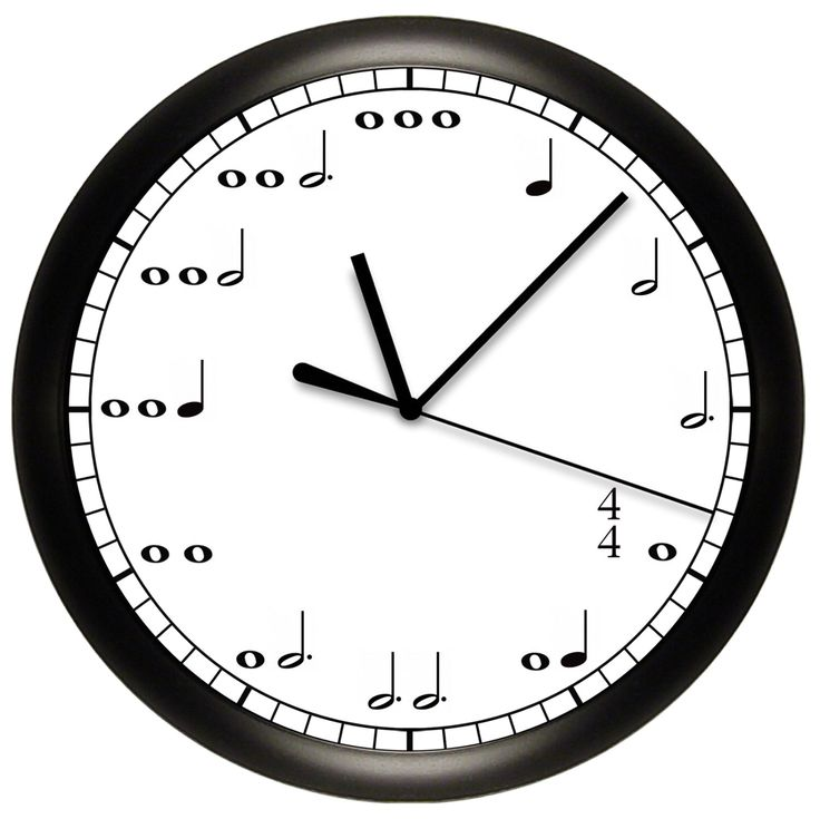 Decorative Music Notes Wall Clock for Musician by cabgodfrey on Etsy https://www.etsy.com/listing/162153957/decorative-music-notes-wall-clock-for