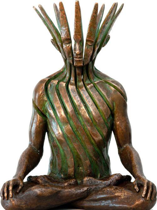 Incredibly Zen Sculptures of Human Figures Disintegrating - DesignTAXI.com