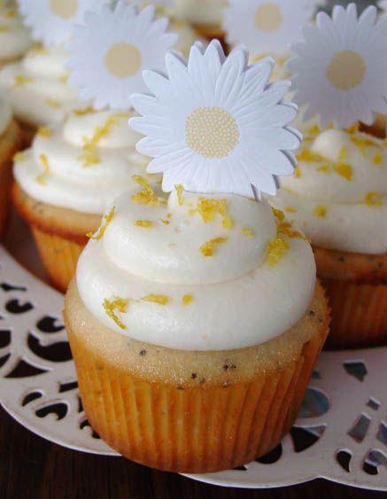 Lemon Poppyseed Cupcakes with Lemon Frosting
