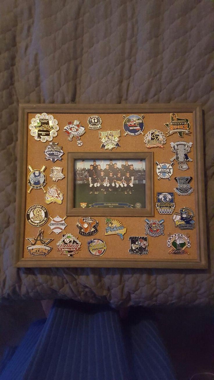 White baseball caps for crafts - Baseball Pin Display