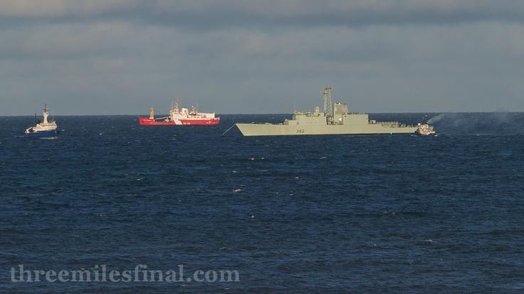 Halifax Shipping News: HMCS Athabaskan Off Glace Bay