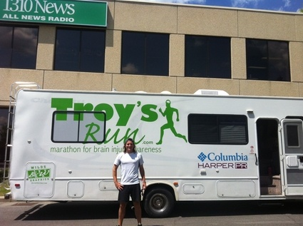 June 7th - Ottawa, ON  Troy's Run for Brain Injury Awareness arrives in Ottawa - 1310News
