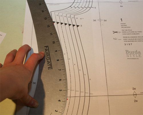 A French curve ruler for modifying patterns when you are between sizes from top to bottom. I didn't know it existed but it could be useful.