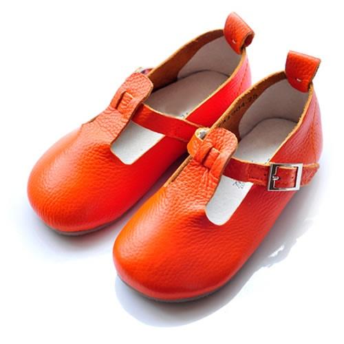 Buy Orange Leather Little Toddler Flower Pageant Girls