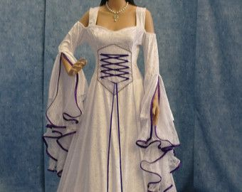 Breathtaking Renaissance medieval style fantasy dress beautiful gown for weddings renaissance faires proms LARP AND A HOST OF OTHER OCCASIONS