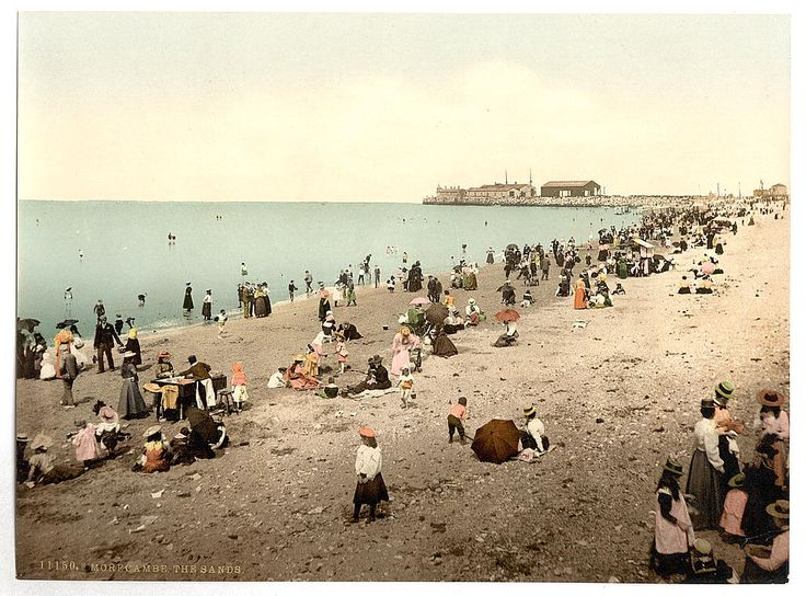 https://flic.kr/p/f7X3AF | [The Sands, Morecambe, England]  (LOC) | [The Sands, Morecambe, England]  [between ca. 1890 and ca. 1900].  1 photomechanical print : photochrom, color.