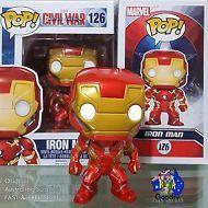 Funko Pop Vinyl 126 IRON MAN Bobble Head Marvel Captain America Civil War