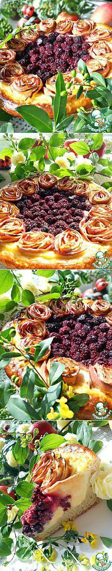 """Яблочно-ежевичный пирог """"Летнее наслаждение"""" - кулинарный рецепт"""