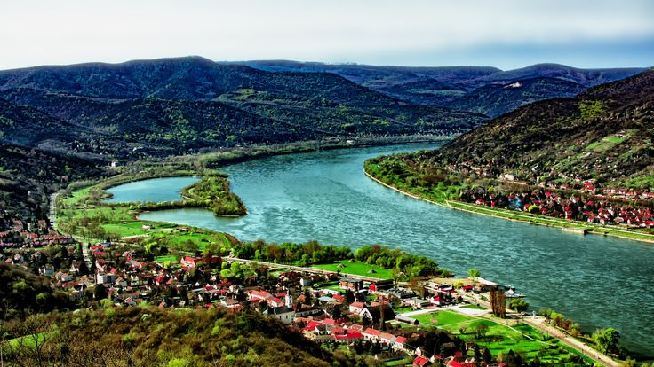 The Danube Bend - View from Visegrad Castle - If you like this work please Like ✔ Comment ✔ Share ✔ Follow ✔ Thanks for your visit.