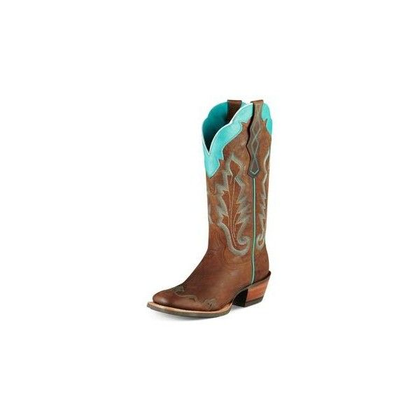 Country girl outfits ❤ liked on Polyvore featuring shoes, boots, cowboy boots, blue western boots, turquoise boots, western style boots and blue cowboy boots