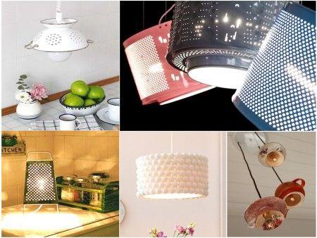 ideas originales de reciclar para decorar con lmparas