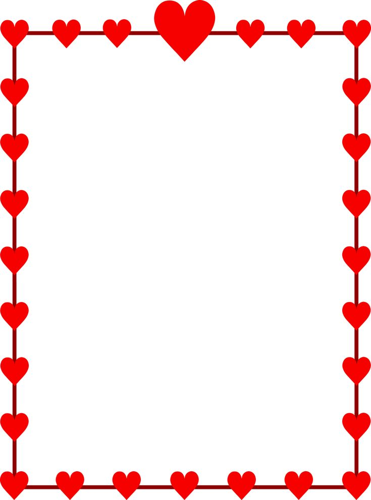 valentines day border writing paper