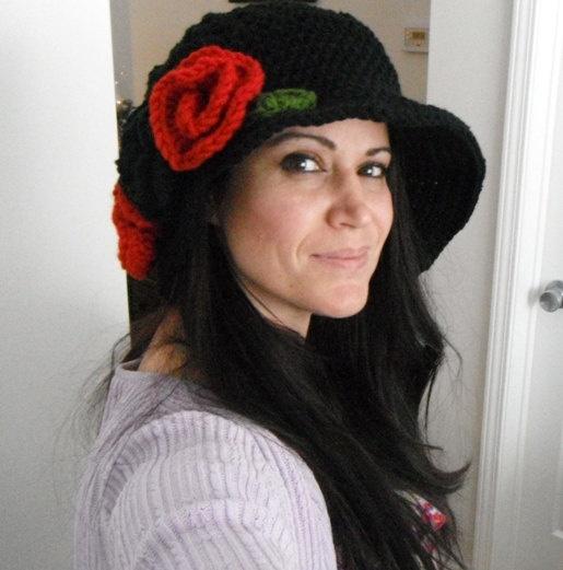 womens hat crochet womens hatfall fashion by knottycreationsbyET, $40.00
