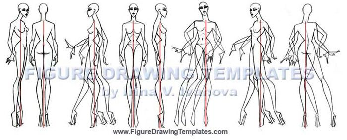 Template based Figure Drawing techniques by Irina V. Ivanova.. Body views , static and movement. Available in books or paid downloads