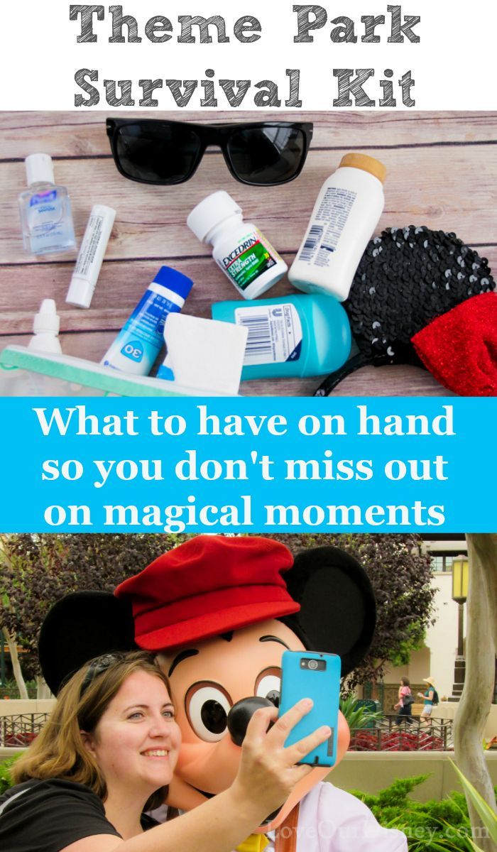 Heading to Disney or another theme park? You will want these items in your bag. Travel, Vacation, via @thebeccarobins {AD} #MoreMomentsWithExcedrin