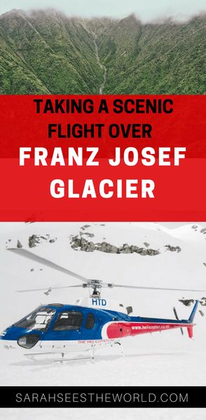 Flying over Franz Josef Glacier in a helicopter is a must do in New Zealand's South Island. Read about my scenic flight over Franz Josef Glacier and save this to your travel board!