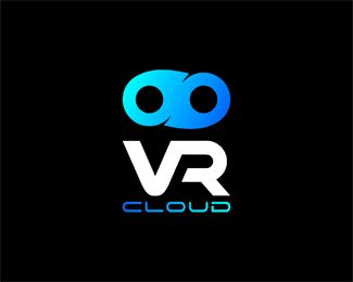 virtual reality cloud (VR cloud) Logo design - The concept VR cloud brand was realized for virtual reality on cloud based business. (e.g. VR on cloud) Price $300.00
