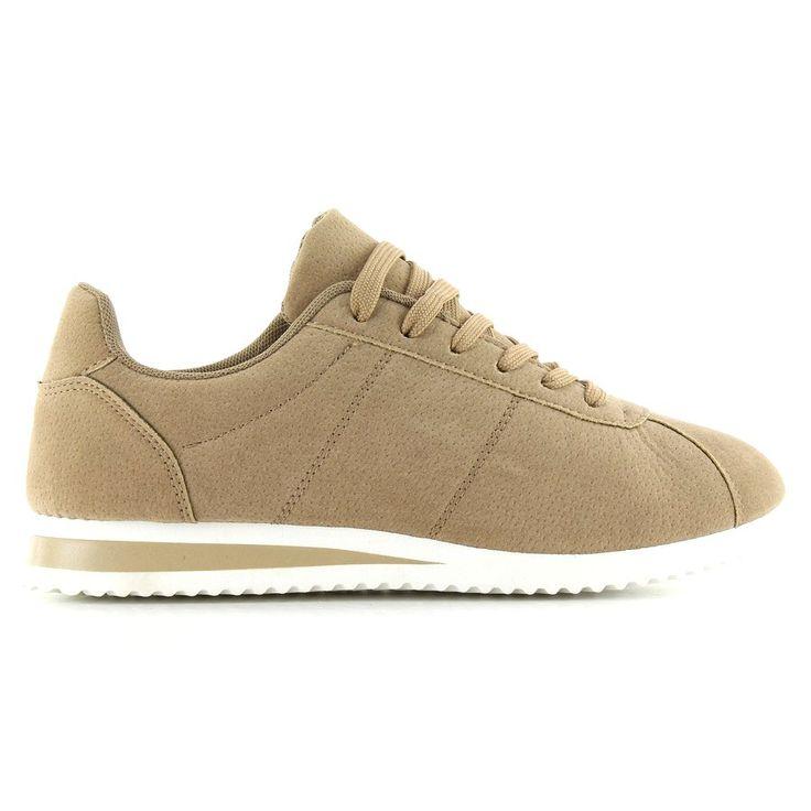 Zamszowe Buty Sportowe By 012 Khaki Sneakers Shoes Fashion