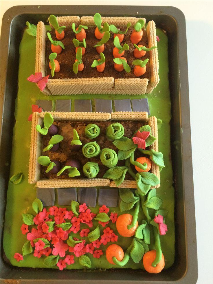 Vedgetablegarden cake. Køkkenhavekage.