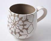 Off White Mug Cup D