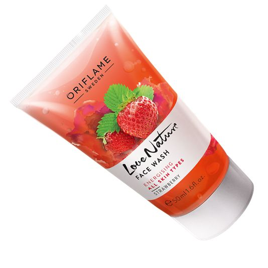 Love Nature Face Wash Strawberry RS:129
