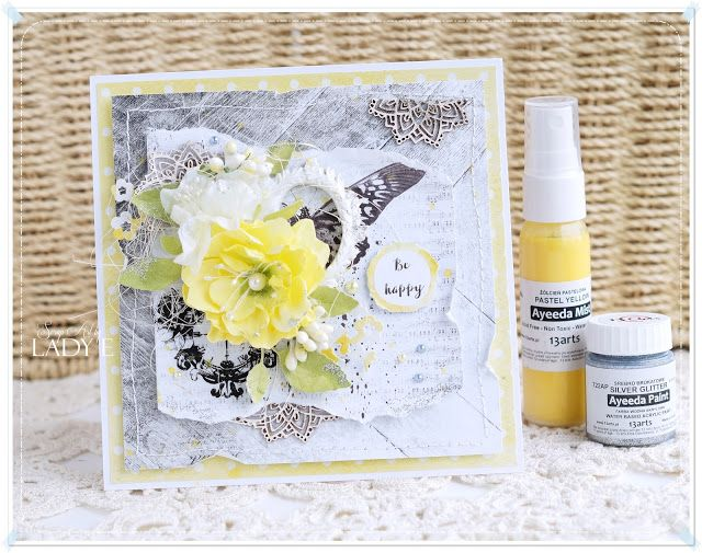 13arts: Be Happy Card & Video Tutorial - Lady E