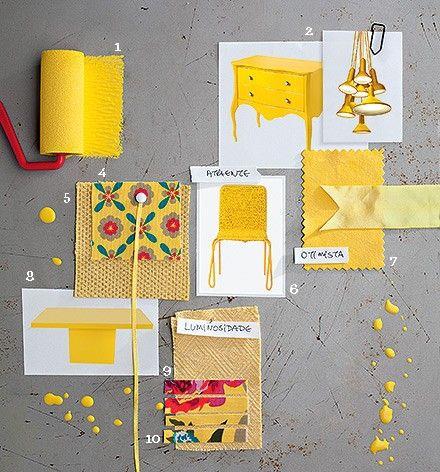 As cores de 2014. Amarelo Canjica é a cor sugerida pela Tintas Iquine. O tom inspira otimismo e calor.