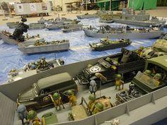 "playmobil 1er empire napoleon grenadier dragon hussard secession nordiste sudiste spartiate allemand: Exposition Franconville 2012 Notre diorama ""Le débarquement 6 juin 1944"""
