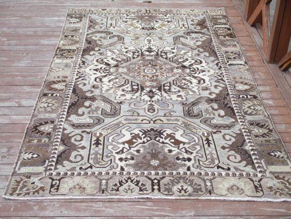 Primitieve handgemaakte tapijt Vintage Turkse door LAVENDERSKYBLUE
