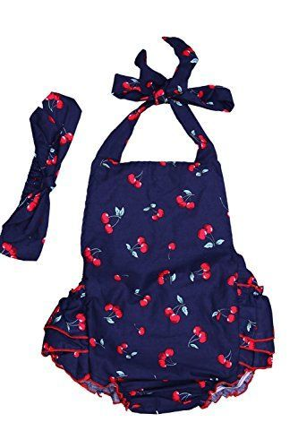 DQdq Baby Girls' Floral Print Ruffles Romper Summer Dress