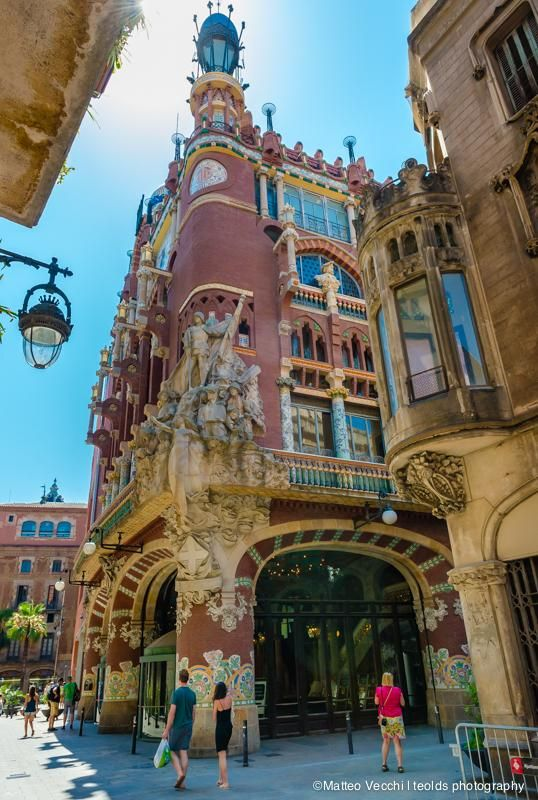 "Did you know that Palau de la Musica is the unique hall in Europe with a natural lightning? Check more interesting facts and tips about where to walk around on our ""Travelkidsbarcelona"" blog."