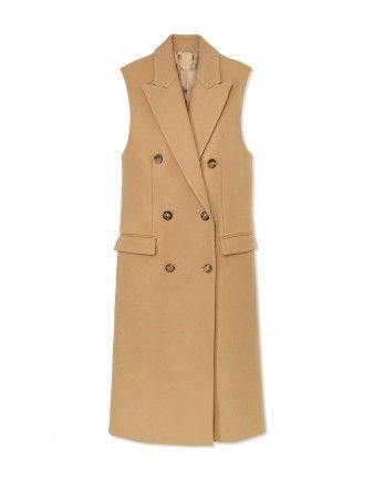 Michael Kors Sleeveless Wool Coat - Shop ways to wear the classic prep look: http://shop.harpersbazaar.com/trends/style-guide/