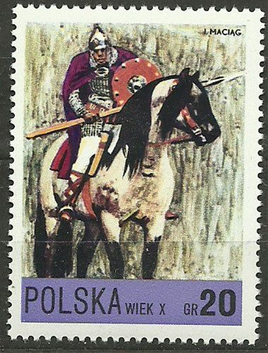 Poland, 1972, Mi 2222, Piast Knight, 10th century, #270, MNH