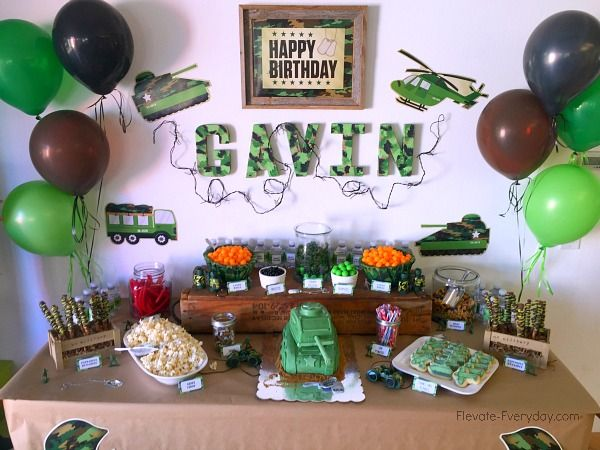 Army Themed Birthday Party Thursday,   January 7, 2016Army Themed Birthday Party