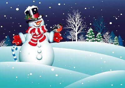 Fondo navideño con hermoso muñeco de nieve y aves | Banco de Imágenes, Fotos y Postales... Fondo navideño con hermoso muñeco de nieve y aves         |          Banco de Imágenes, Fotos y Postales...