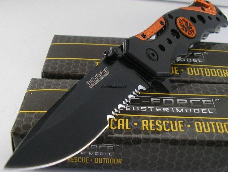 TAC-FORCE Spring Assisted Opening EMT EMS ORANGE Rescue Folding Pocket Knife -- Want additional info? Click on the image.