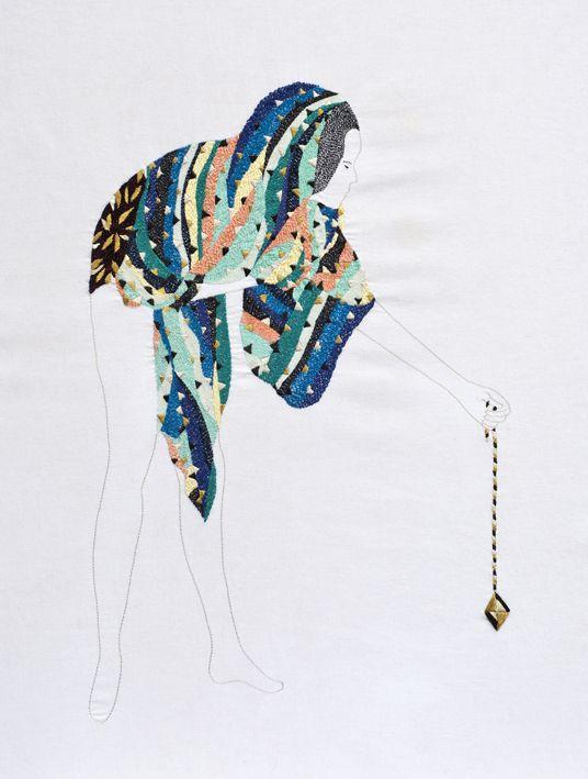 iiiinspired: ART, CRAFTS _ embroidery art by jazmin berakha