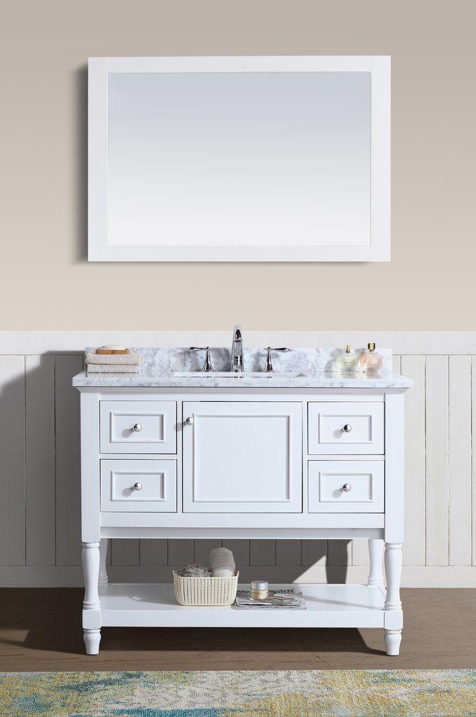 Cape Cod 42 Single Bathroom Vanity White Vanity Bathroom