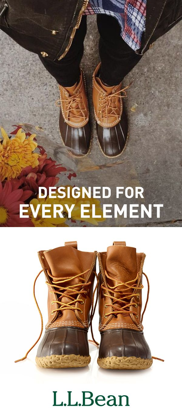 """Our signature """"duck"""" boots are still sewn right here in Maine - one pair at a time - by expert craftspeople whose technical skills and passion for their work is evident in every pair of boots they make. Designed for every element."""