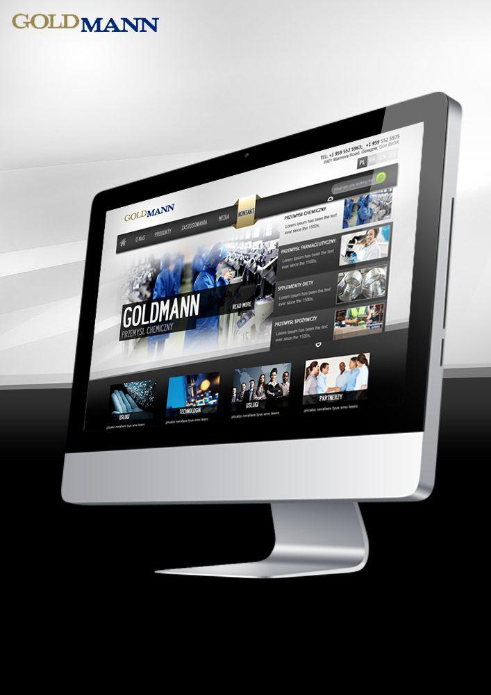 Goldmann Company Web Page concept