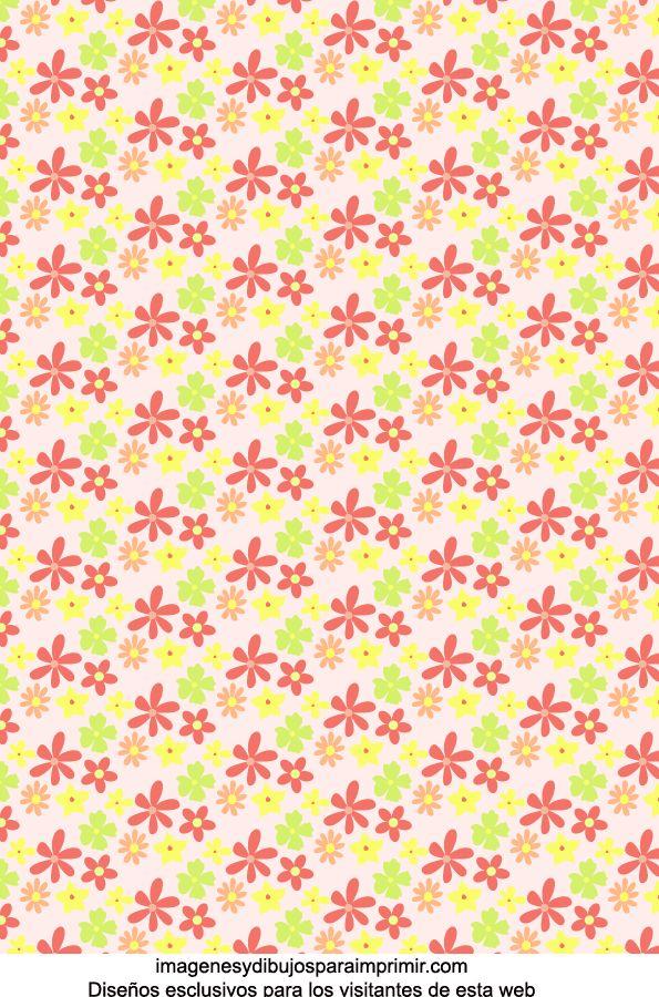 Papel de flores para imprimir-Imagenes y dibujos para imprimir                                                                                                                                                                                 Más