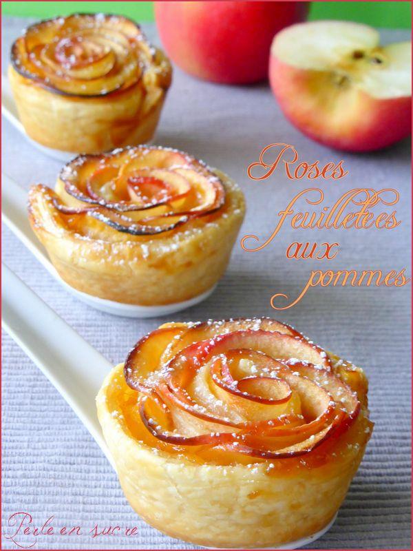 Roses feuilletées aux pommes