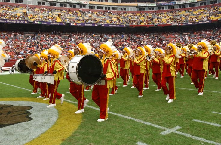 """Redskins Marching Band Plays """"Hail to the Redskins"""" The Redskin Marching Band is one of only two pro football marching bands in existence. What a smart team!"""